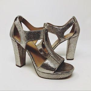 NEW Michael Kors Berkley T-Strap Platform Heels